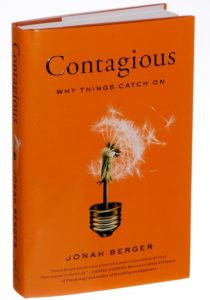 The book Contagious by Jonah Berger